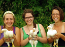McGill Students with Chickens