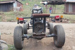 self-made tractor back
